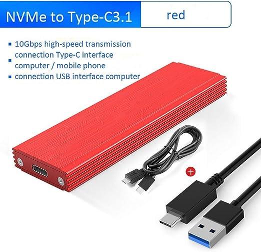 HWENJ USB3.1 Type-C A M.2 NVME SSD Case PCIE A Type-C HDD ...