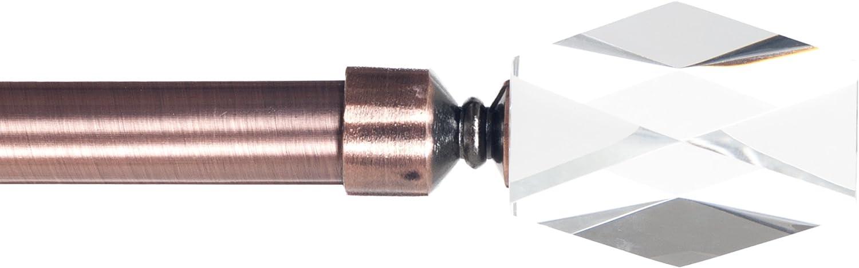 3//4 Copper Lavish Home Cone Glass Curtain Rod