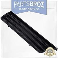 Part Black 242176502 Refrigerator Dispenser Overflow Grille Genuine Original Equipment Manufacturer OEM
