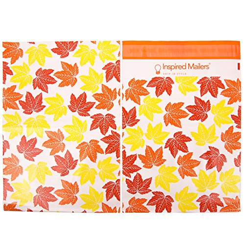 Inspired Mailers Poly Mailers 10x13 Autumn Leaves – Pack of 100 – Unpadded Shipping Bags by Inspired Mailers (Image #3)