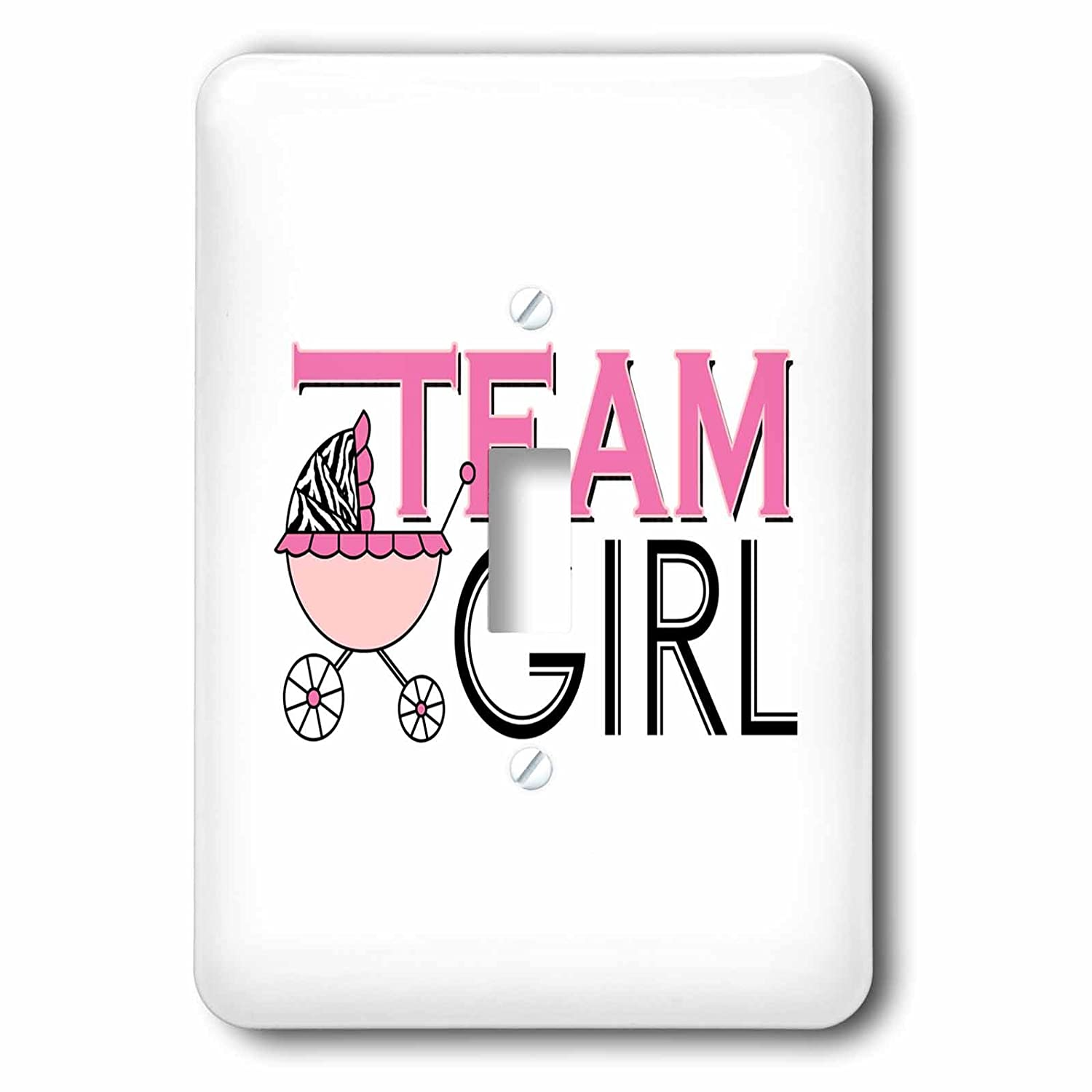 3dRose lsp/_57089/_1 Gender Reveal Party Team Girl Pink Single Toggle Switch