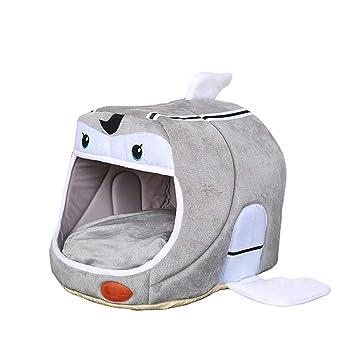 TianBin Moda Plegable Nido de Mascotas Cerrado Perrera Cálido Suave Casa del Gato (Gris Claro#2, L): Amazon.es: Hogar