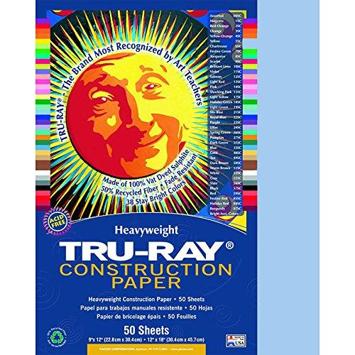 PACON CORPORATION TRU RAY 9 X 12 SKY BLUE 50 SHT (Set of 12)