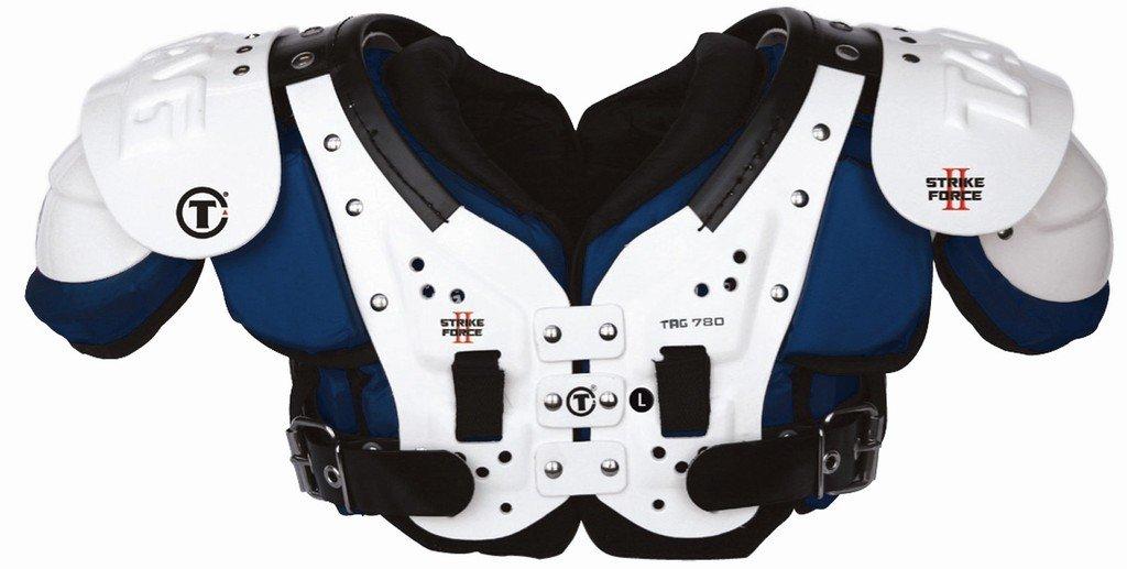 タグStrike Force II 780 Football Shoulder Pad。Ideal For Quarterbacks、ワイド受信機、およびDefensive Backs。 B00YHTD3HM ネイビー 2XL-Large