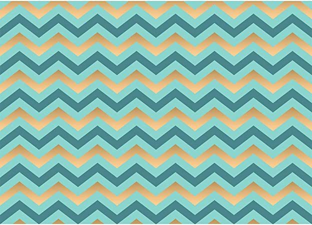 Gradient Blue Chevron Stripes Backdrop 6.5x6.5ft Polyester Photography Background Blue Tone Striped Photo Backdrops Newborn Baby Boy Birthday Party Backdrops Children Photography Backdrop