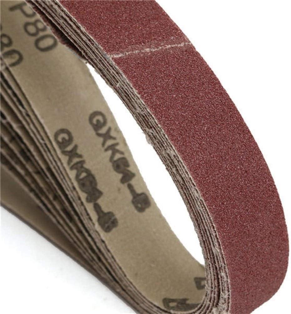 CHUNSHENN Durable 10pcs 80 Grit 760x25mm Zirconia Abrasive Sanding Belts for Grinding Woodwork Abrasive Accessories