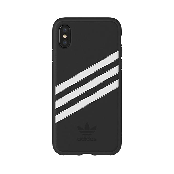 size 40 3d592 a3721 adidas Originals Suede Moulded/Logo Case for Apple iPhone X (Suede  Black/White)