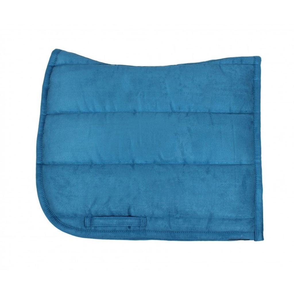 QHP Sattelpad Dressurpad geformt Suedine absorbierende Unterseite Warmblut