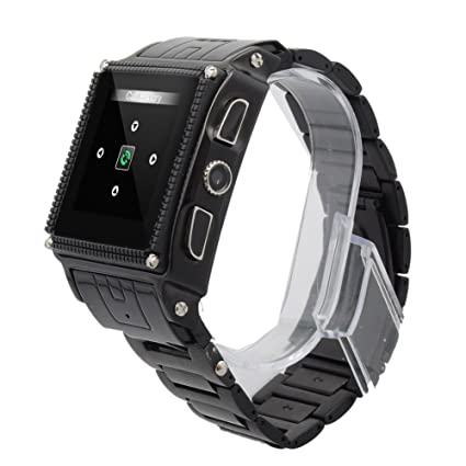 Amazon.com: Black 1.5 inch Stainless Steel Watch Mobile ...