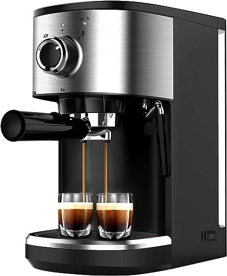 Bonsenkitchen Cafetera Espresso, Máquina de Café Espresso de Acero Inoxidable, Presión 15 Bares, 1450 W, Manual Cafetera Profesional para Espresso y Capuccino (CM8902, 1.25L): Amazon.es: Hogar
