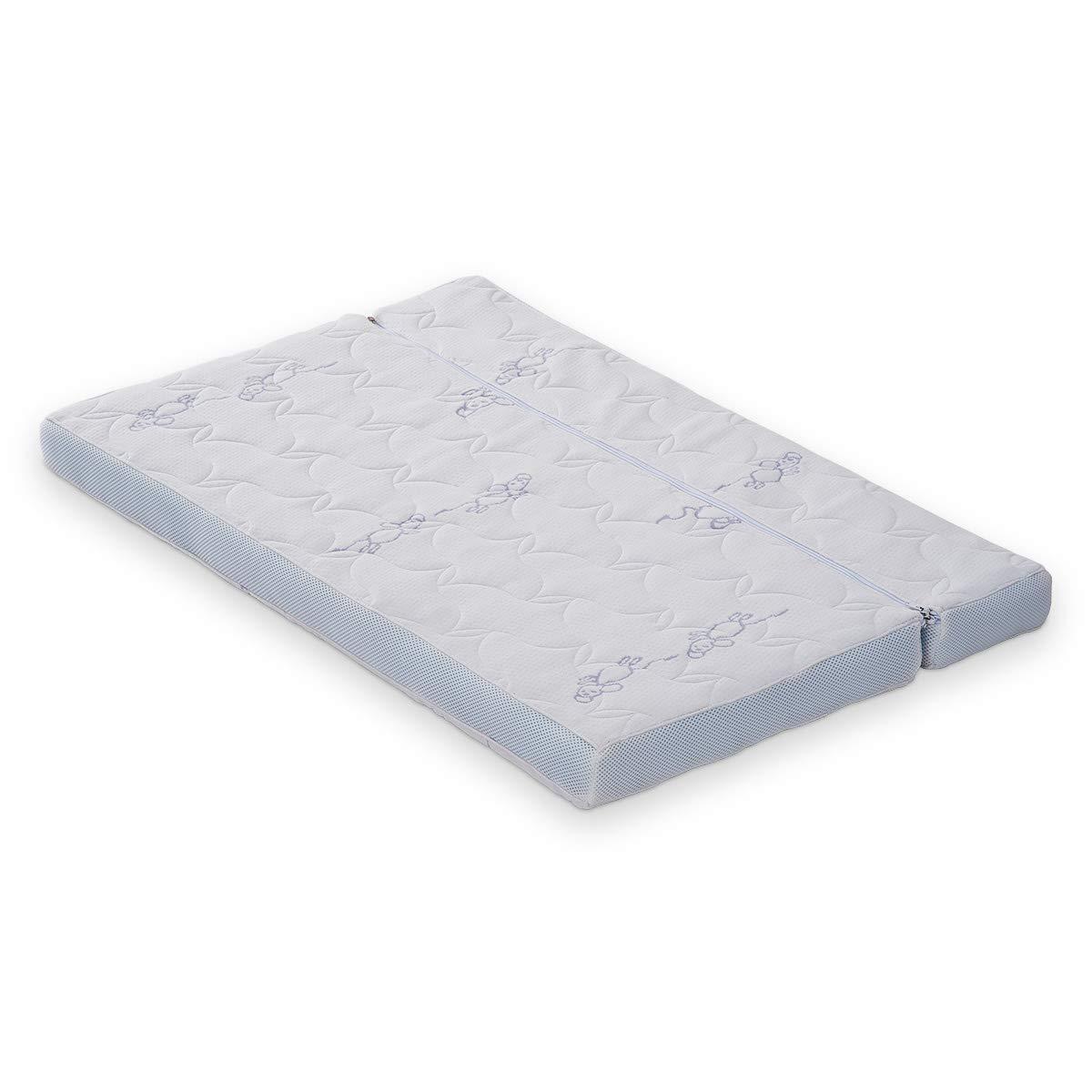 FabiMax Beistellbett PRO mit Matratze AIR und Nestchen Amelie grau