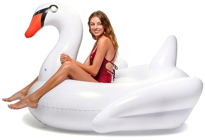 Floatie Kings Cisne Blanco Flotador de Piscina - Inflable ...