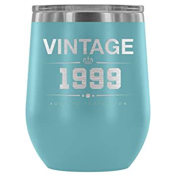 1999 19th Birthday Gifts For Women And Men 12 Oz Wine Tumbler Cup