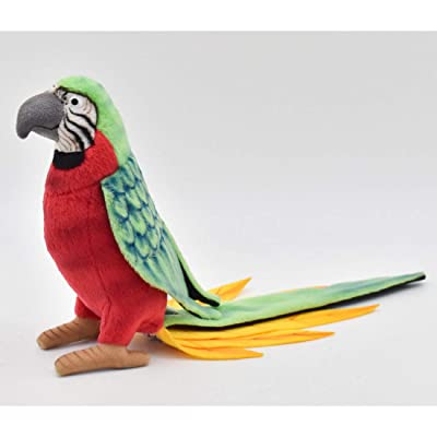 HANSA Parrot Plush, Red/Green: Toys & Games