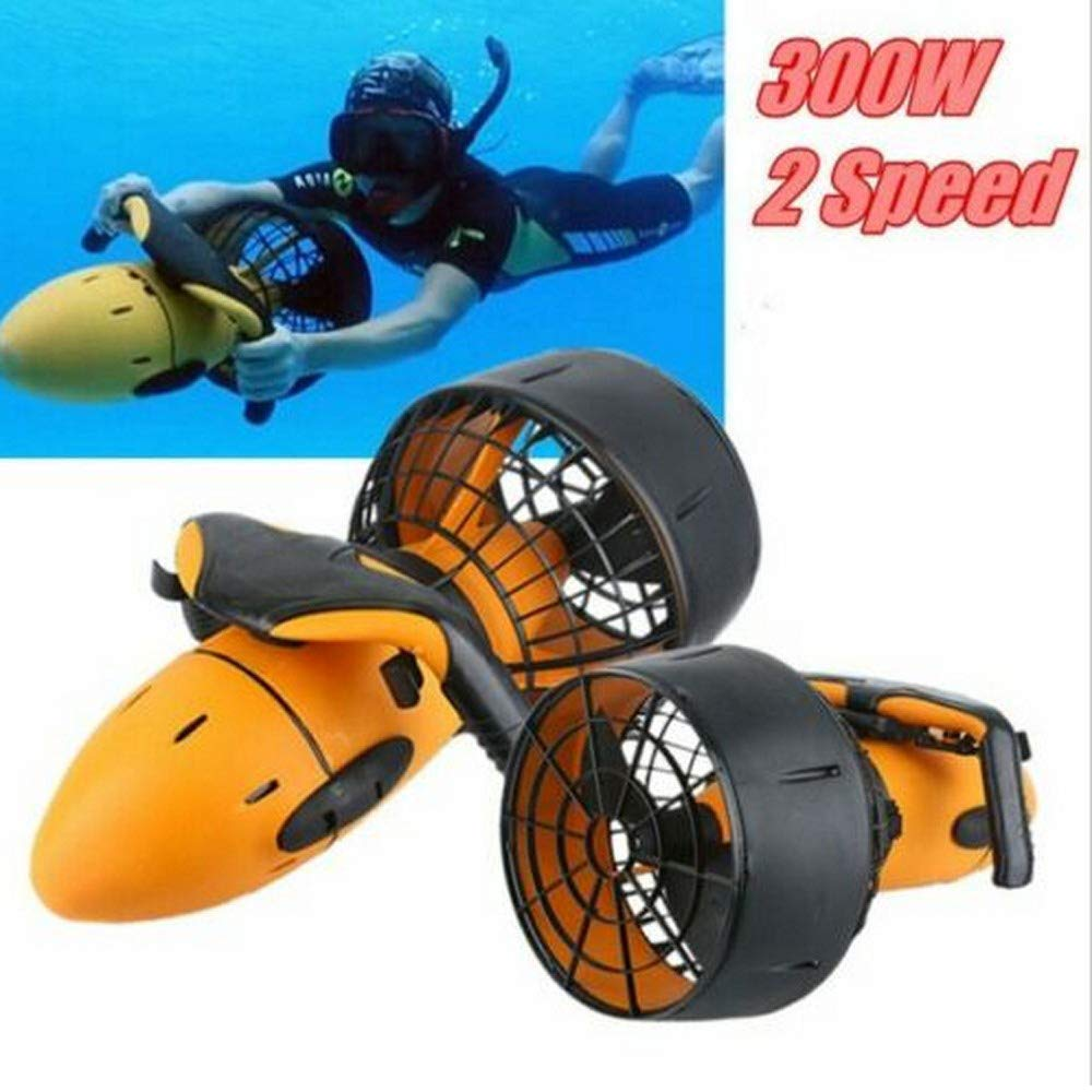 Pengxuehuang Under Water Scuba Sea Scooter,Waterproof 300W Electric Sea Scooter, Dual Speed Underwater Propeller Diving Pool Scooter Water Sports by Pengxuehuang