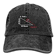 Find X I Found It Funny Math Vintage Adjustable Jean Cap Leisure Hats For Man And Woman