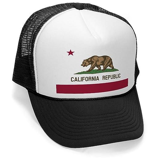 72a741de7f43c ... buy the goozler california republic mens trucker hat cali flag black  ae072 64823