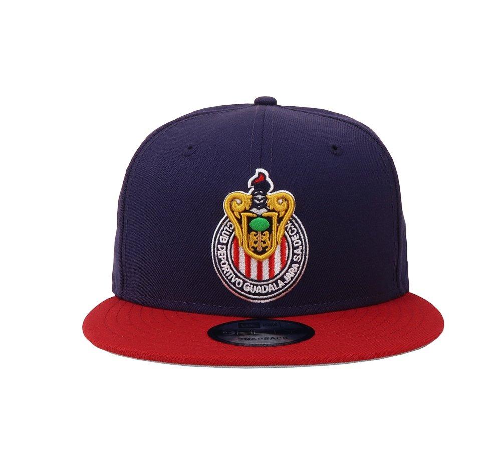 30ed30d8811 New Era 9Fifty Hat Chivas De Guadalajara Mexican League Blue Red Soccer Cap    Baseball Caps   Clothing