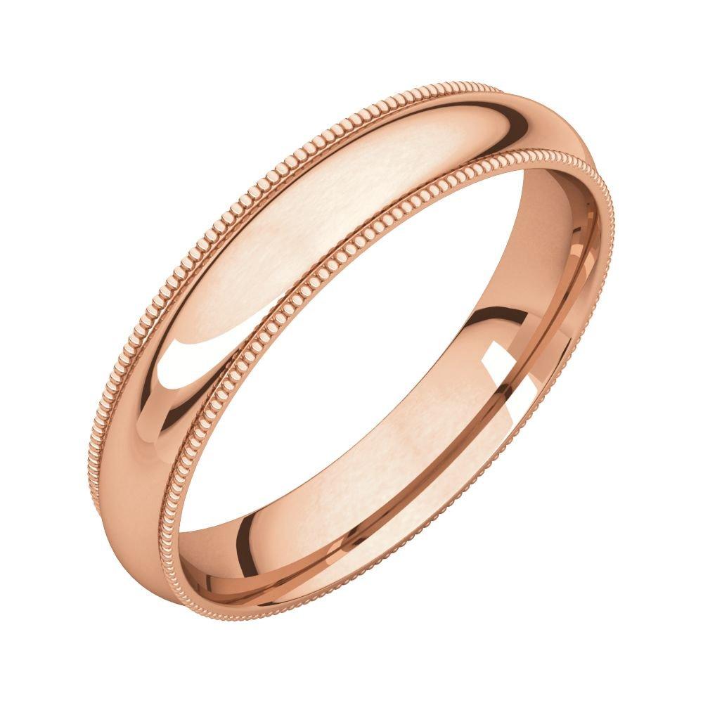 Size 13.5 Bonyak Jewelry 18k Rose Gold 2 mm Half Round Band