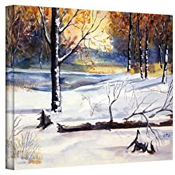Art Wall Winter Woods By Dan Mcdonnell Gallery Wrapped Canvas Art, 24 By 32-inch