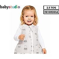Baby Studio Winter Version 2.5 Tog Milk Bottles Cotton Studio Bag for 6-18 Month Babies, White/Grey