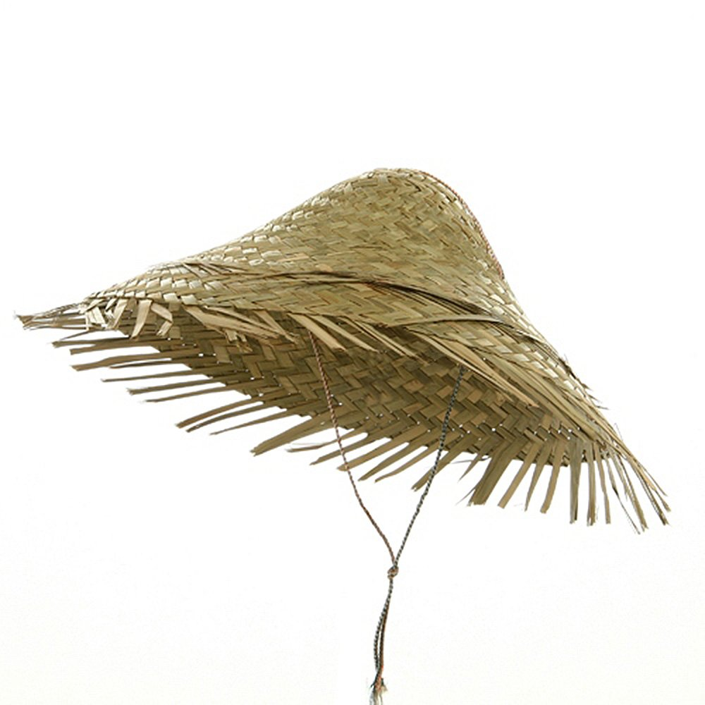 Straw Coolie Hat-Natural