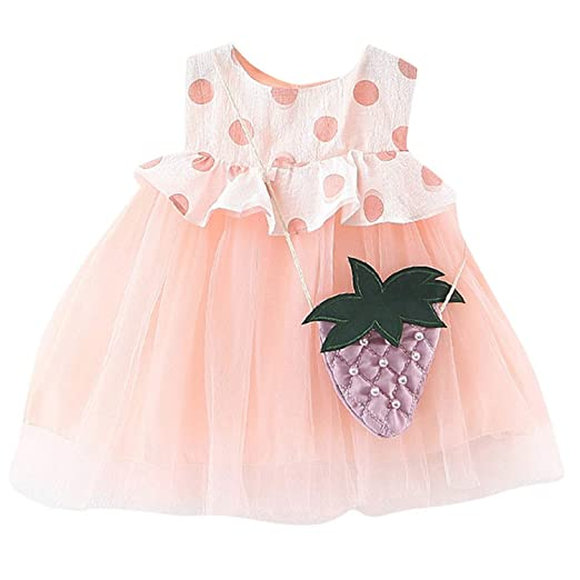 a37b12bb53874 Amazon.com: Dsood Infant Gril Dress, Toddler Kids Baby Girls Knitted ...