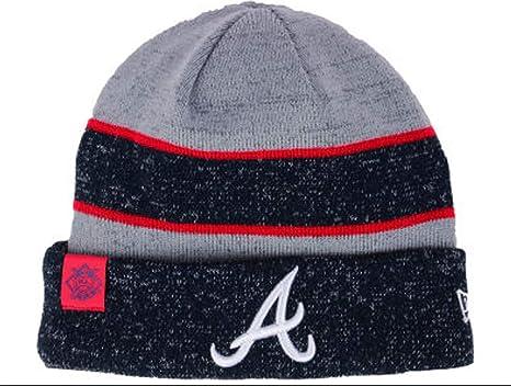 Amazon.com  New Era Authentic Atlanta Braves 2017-18 Cuff Sport Knit ... ff4b96234b1