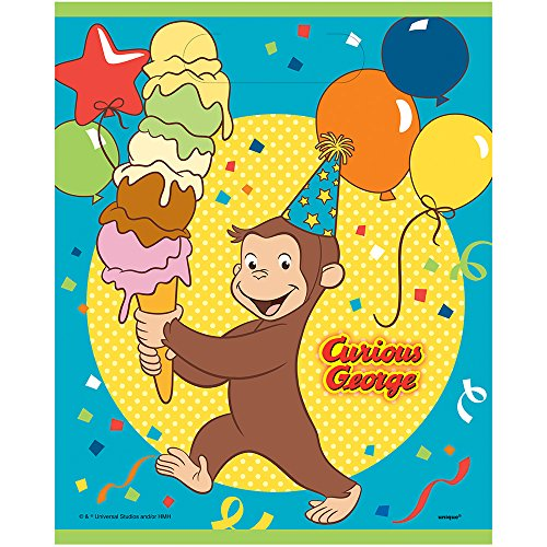 Unique Curious George Party Loot Bags, 8 Ct. -