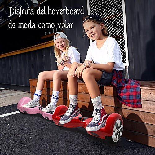 BEBK Overboard 6.5 Pouces LED Hoverboard, Électrique Auto-Équilibrage Scooter, Adulte Tout-Terrain Smart Gyropode, Enfant Cadeaux