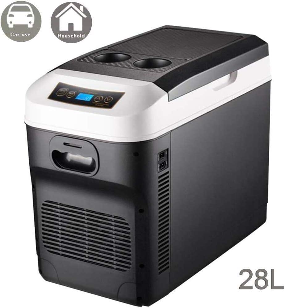 Nevera Neveras Congelador Refrigerador Refrigerador de 28 litros para Autos con refrigerador y Calentador, Caja portátil para refrigerar, refrigerador eléctrico, Mini congelador para Autos de Viaje, 1