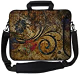 "Designer Sleeves 14"" Vintage Fleur Executive Laptop Case"