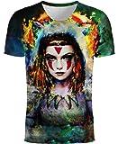 Boromiroak Men Women T Shirt 3D Printed Summer Shirts Casual Short Sleeve Tops Tee