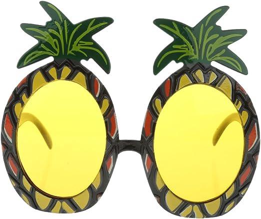 TRIXES Gafas de Sol en Forma de Piña Tropical para Mascarada o ...