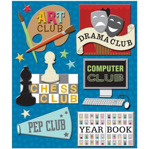 K&Company Clubs Sticker Medley