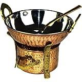 Original Indian 3Piece Serving Set/Karahi Angithi Serving Spoon, Stainless steel, Set für 1 Portion/Person