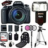 Canon EOS 77D DSLR Camera with 18-135mm USM Lens + 32 Gb Card + Accessory Bundle