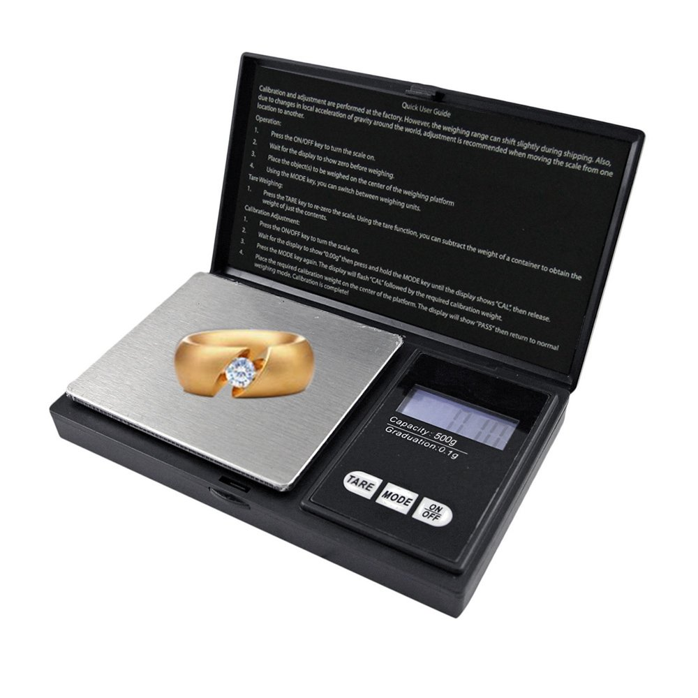 Electronic Mini Scale Pocket Scales Gold Jewelry LED Display Kitchen Weighing Scales 500 X 0.1g Littleducking
