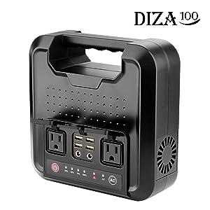 DIZA100 220Wh AC出力300W ポータブル電源
