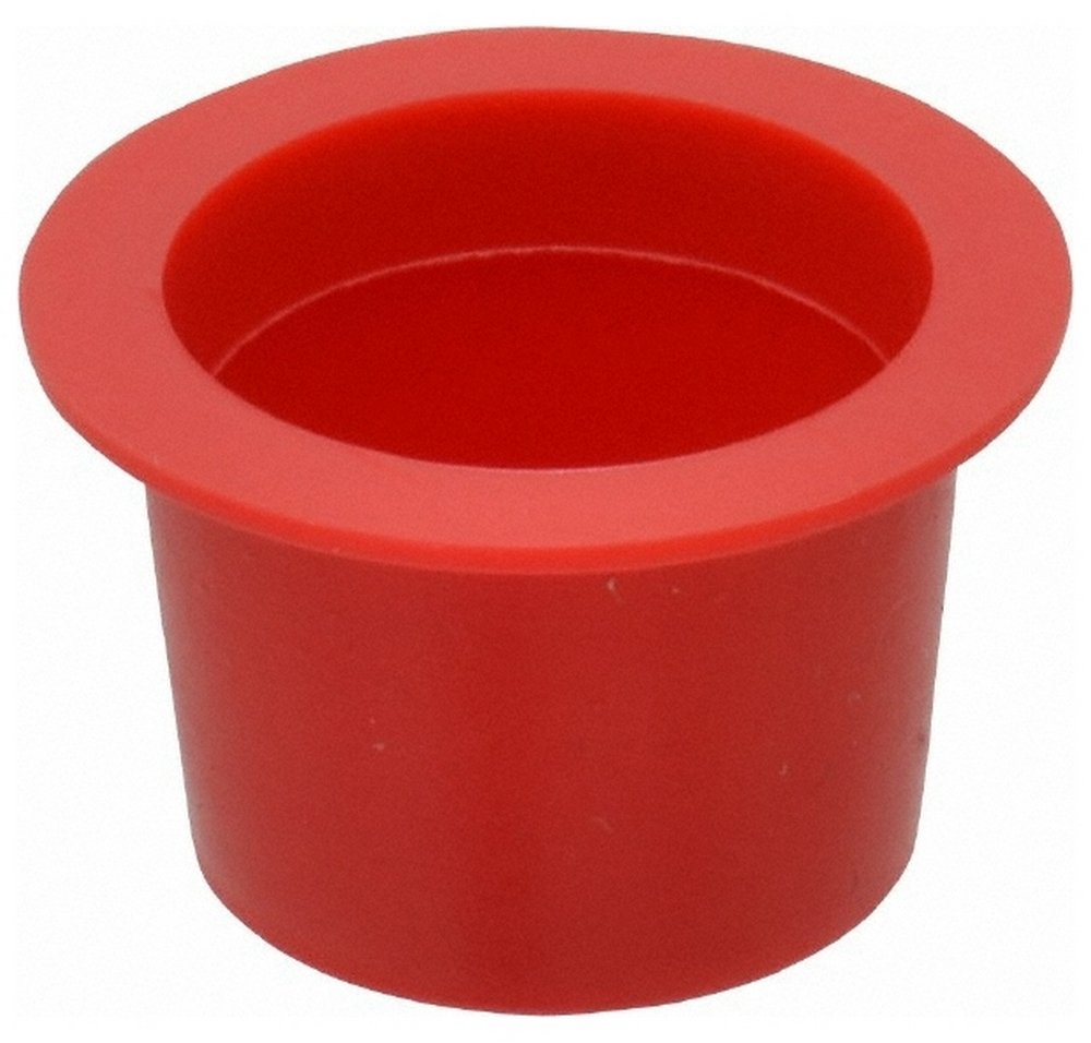 1/4 NPT ID Press Fit Cap, Polyethylene, Red 100 Pack
