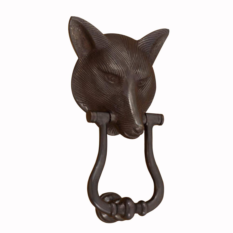 Casa Hardware Solid Bronze Fox Door Knocker - Dark Bronze