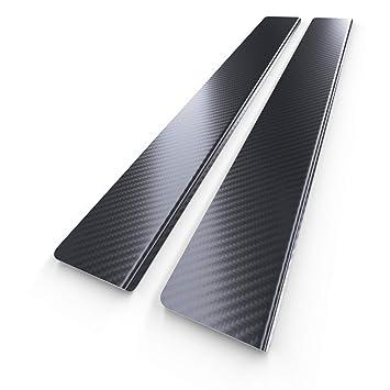 Protectores de acero para umbral de coche - lámina de carbono - kit de 2 piezas - 5902538697279: Amazon.es: Coche y moto