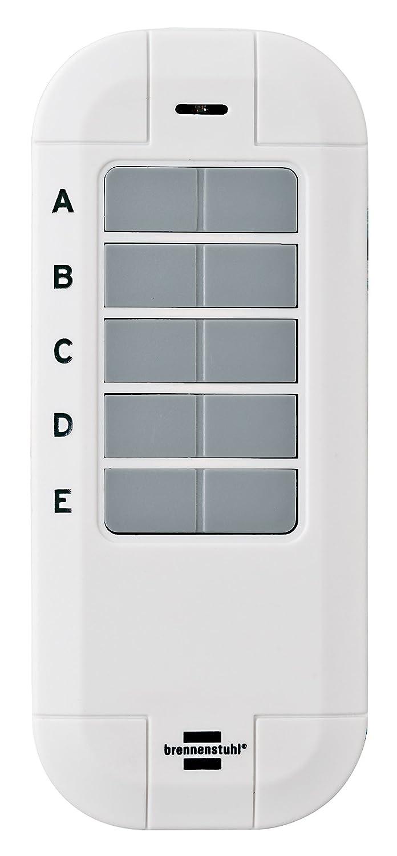 Smart Home Funk-Fernbedienung, Handsender 868 mhz, Steuerung per Knopfdruck Funk-Handsender Brennenstuhl BrematicPRO Funk-Fernbedienung wei/ß