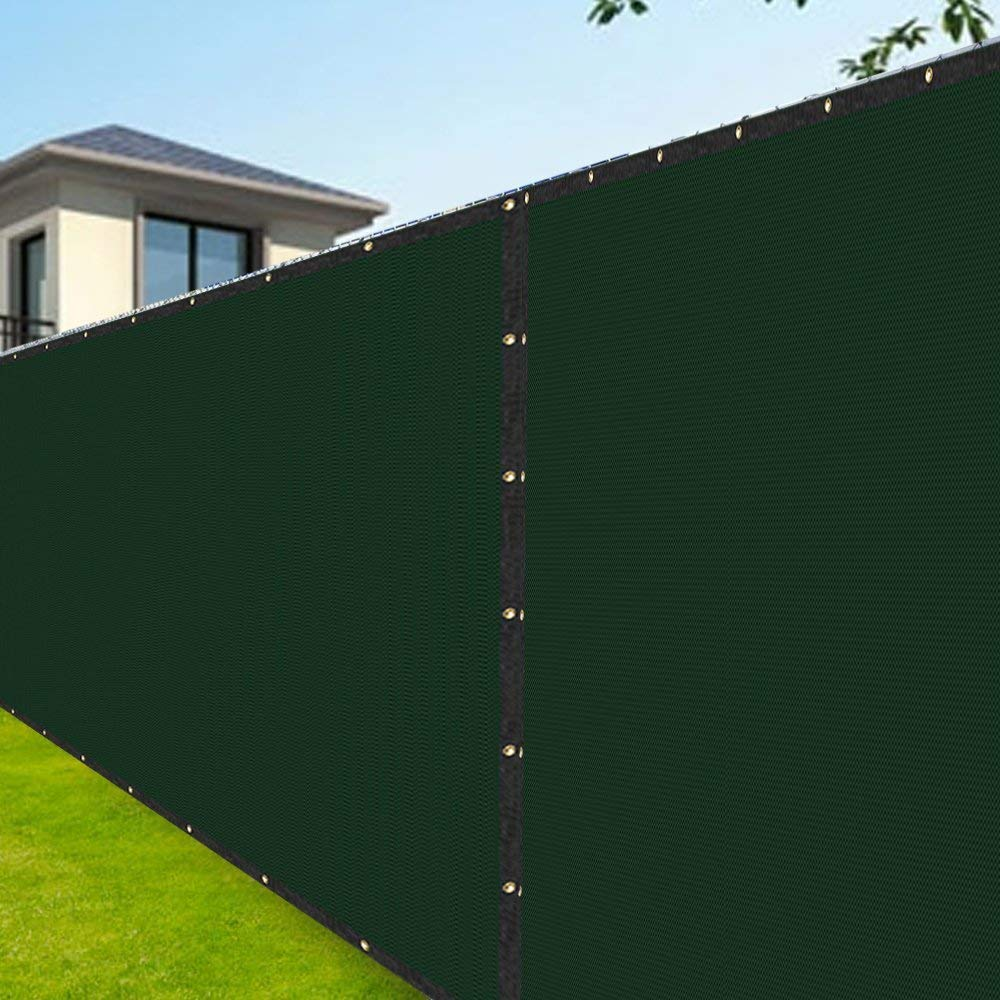 Amagabeli 8u0027x50u0027 Fence Privacy Screen Heavy Duty for Chain Link Fence  Fabric Screening with Brass Grommets in Solid Green Fencing 5 Years  Warranty ...