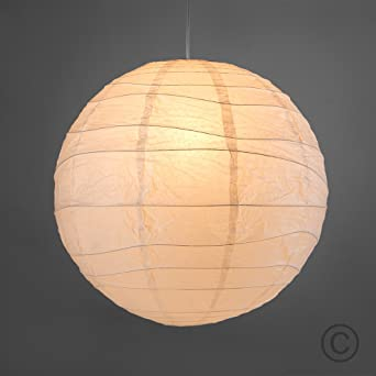 Pair of ambient modern large 50cm white round sphere globe pair of ambient modern large 50cm white round sphere globe shaped chinese paper lantern ceiling mozeypictures Images