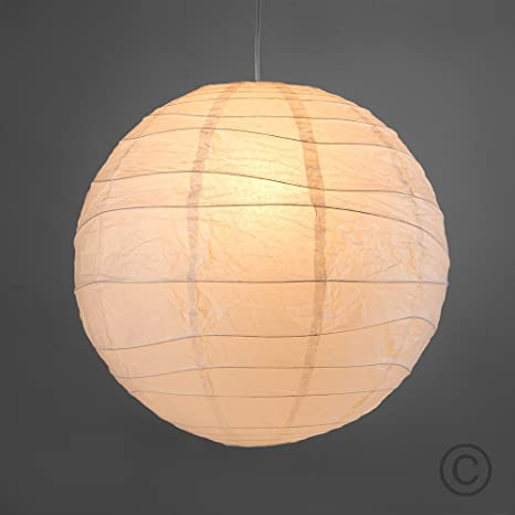 Pair Of Ambient Modern Large 50cm White Round Sphere Globe Shaped
