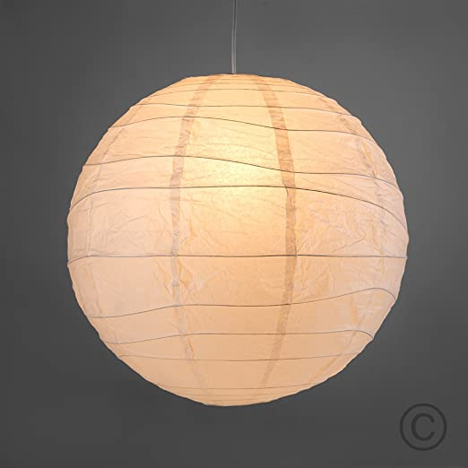 Pair of ambient modern large 50cm white round sphere globe shaped pair of ambient modern large 50cm white round sphere globe shaped chinese paper lantern ceiling aloadofball Gallery