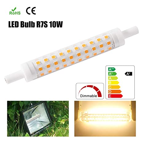Bombilla LED Regulable R7S Ø15 118mm 10W Tipo J Proyector LED Luz ...