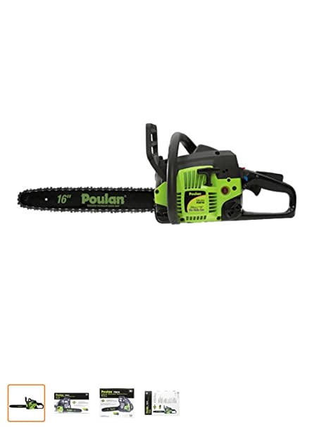 Amazon poulan pro 967187901 3816 16 gas powered chain saw poulan pro 967187901 3816 16quot gas powered chain saw greentooth
