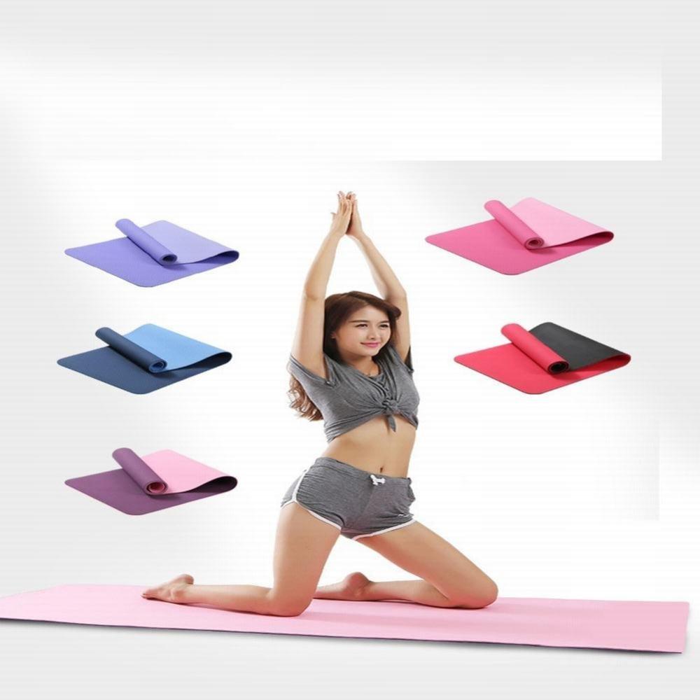 WEI Yoga Matte Fitness Matte Tablet Unterstützung Yoga Trainingsmatte Dunkelgrau Einheitsgröße